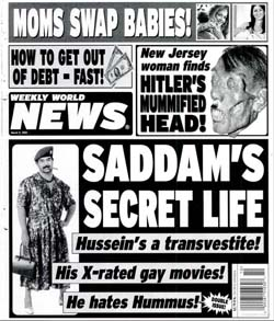 Saddam's secret life: he hates hummus~